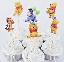 24pcs Winnie The Pooh Cupcake Cake Topper Decoration Kids Birthday Party Cartoon