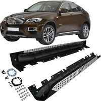 für BMW X6 E71 E72 Bj 08-14 Set Trittbretter Schweller Aluminium inkl. Anbaumate