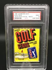 1981 donruss golf wax pack; jack nicklaus rc stat leader psa 9  pop 3, 0 higher!