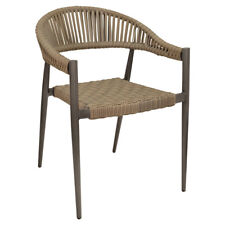 New Outdoor Fiji Arm Chair with Gray Wicker Weave Back