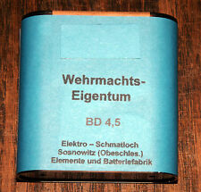 GERMANY WEHRMACHT 4.5 Volt Flashlight / Lamp / Torch Battery  - repro (d2)