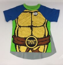 Teenage Mutant Ninja Turtles Little Boys Toddler T-shirt with Cape Halloween