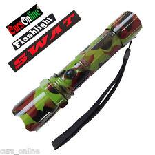 Torcia Militare Led Cree XM-L T6 Potentissima Luce Batteria Ricaricab. Mimetica