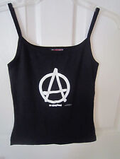 "Girls' Black Tank Top  New ~ Never used!  ""ANARCHY"" design  Junior Sz."