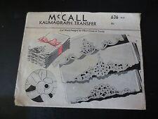 Vintage McCall Kaumagraph Transfer Cut work for Pillow cases & Towels-Uncut