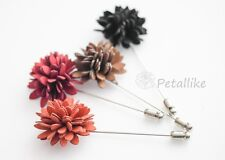 Suede chrysanthemum Men's Flower Boutonniere / Buttonhole For Wedding,Lapel Pin