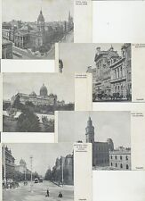 Group of 5 postcards views of Melbourne Victoria post office, town hall, etc