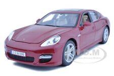 2011 PORSCHE PANAMERA TURBO DARK RED 1:18 MODEL CAR BY MAISTO 36197