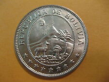 1939 Bolivia 50 Centavos coin sweet classic coin uncirculated beauty, animal