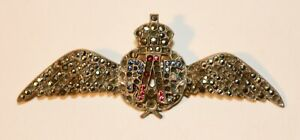 RAF Sweetheart Brooch WWII Silver and Marcasite.