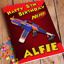 Nerf N-Strike Elite Rapidstrike  Personalised Birthday Card FAST SHIPPING