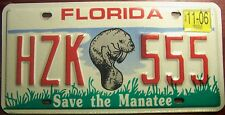 2006 FLORIDA SAVE THE MANATEE MARINE WILDLIFE SPECIALTY LICENSE PLATE AUTO TAG