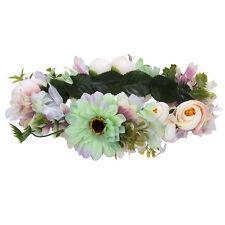 Flower Head Crown Wreath Headband Wedding Garland Festival Beach Party Hairband