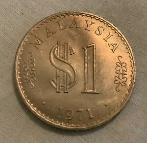 1971 Malaysia 1 Dollar - very nice details