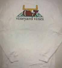 NWT Vineyard Vines Women's L/S White Cap Touchdown Football Whale Pocket T-Shirt