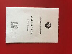 """Guglielmi Nazzareno """"Omaggio a  fontana"""" – Pulcinoelefante, 2013 libri d'artista"""