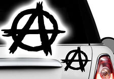 1x Adesivo Anarchia Punk Teschio Targa Riconoscimento Placca