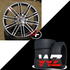 """21"""" Staggered Wheels W/Tires Fits Porsche Macan S GTS & Turbo Gunmetal Machined"""