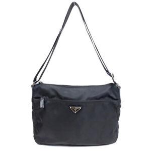 PRADA Shoulder Bag Nylon Black Logo