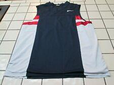 Vintage 90s Nike Basketball Jersey Men's L │ Blue White Red Swoosh Tank Jersey