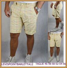 Bermuda da uomo di cotone pantaloncini pantaloni corti pinocchietto 50 52 54 56