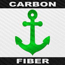 Carbon Fiber Anchor Sticker Buy 1 Get 1 Free Vinyl Boating Decal Bogo