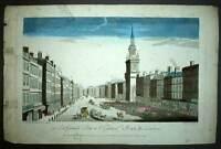 Vue d'optique LA GRANDE RUE A LONDRE LONDON gravure originale XVIIIeme siecle