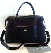 NEW RRP$695 OROTON Signature O Overnighter Travel Large Bag Handbag Black