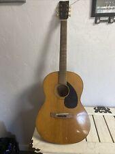 Vintage Yamaha Fg-75 6 String Guitar Acoustic Red Label