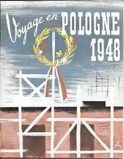 Brochure Voyage en Pologne 1948 – Szancer - Staniszkis