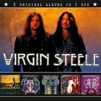 VIRGIN STEELE - 5 ORIGINAL ALBUMS IN 1 BOX  5 CD NEU