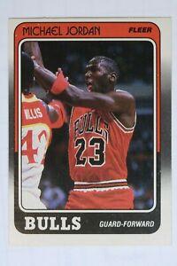 1988-1989 Fleer Michael Jordan Chicago Bulls #17 HOF GOAT