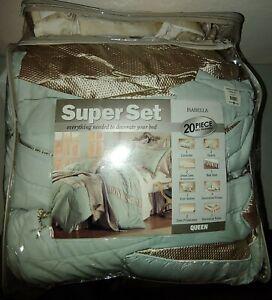 Isabella Superset 20 Piece Queen Bed Ensemble Comforter Sheets Shams Pillows