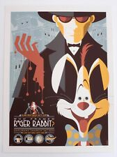 WHO FRAMED ROGER RABBIT MONDO POSTER BY TOM WHALEN LIMITED EDITION SCREEN PRINT