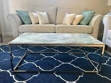 Rectangular Marble coffee table Stainless steel legs brand new