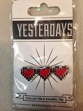 8 Bit Hearts Enamel Pin Legend of Zelda Nintendo NES Life Level Hit Points XP