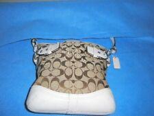 Coach(No# B06U-3577) Signature Logo  Bag Khaki & Tan Leather Purse