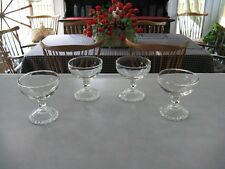Four Anchor Hocking Bubble Foot Champagne/Sherbet Glasses~ In EC! Multiples