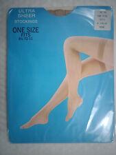 Bone colour Ultra sheer vintage  stockings one size 8.5 11 nylon