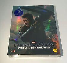 CAPTAIN AMERICA The Winter Soldier 3D Blu-ray STEELBOOK [KIMCHIDVD] FSA2 [#280]
