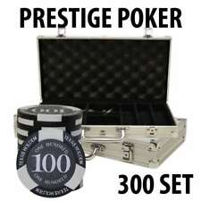 Prestige Poker Chips 300 Chip Set with Aluminum case