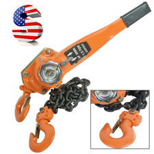 1.5Ton Lever Cranes Block Heavy Hoist Lift Ratchet Chain Come Along 3000 LBS[US]