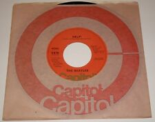 THE BEATLES  HELP / I'M DOWN ORIGINAL ORANGE LABEL 45RPM WITH SLEEVE 1976