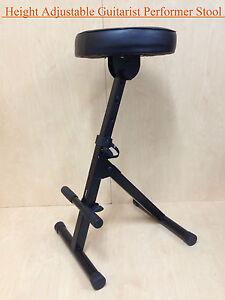 Haze KB009 Height Adjustable(4 ways)Guitarist Performer Stool/Chair w/Foot Rest