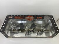 Maisto 1:18 Collector Edition Harley Davidson Motorcycles 1998 Set Of 3