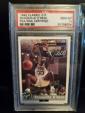 1992 CLASSIC DRAFT PICK SHAQUILLE O'NEAL AUTO RC PSA 10 HOF