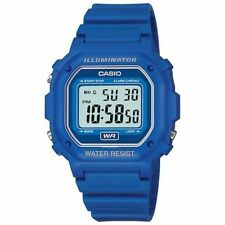 Casio Digital Chronograph Watch, Blue Resin, Alarm, 7 Year Battery, F108WH-2A