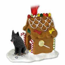 Schipperke Dog Ginger Bread House Christmas Ornament