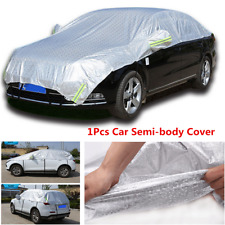 Sliver Car Sun Proof Shade Reflective Strip Outdoor Protection Semi-body Cover