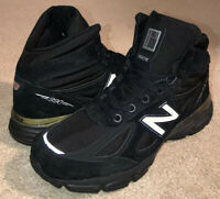 New Balance 990v4 Mid Shoes Boots Black Suede MO990BK4 NEW Men's $185